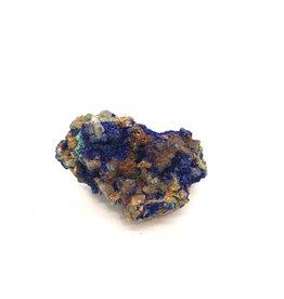 Azurite and Malachite on Quartz Crystals