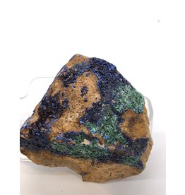 Azurite and Malachite in Matrix (Morocco)