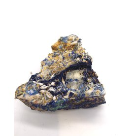 Azurite with Malachite on Barite