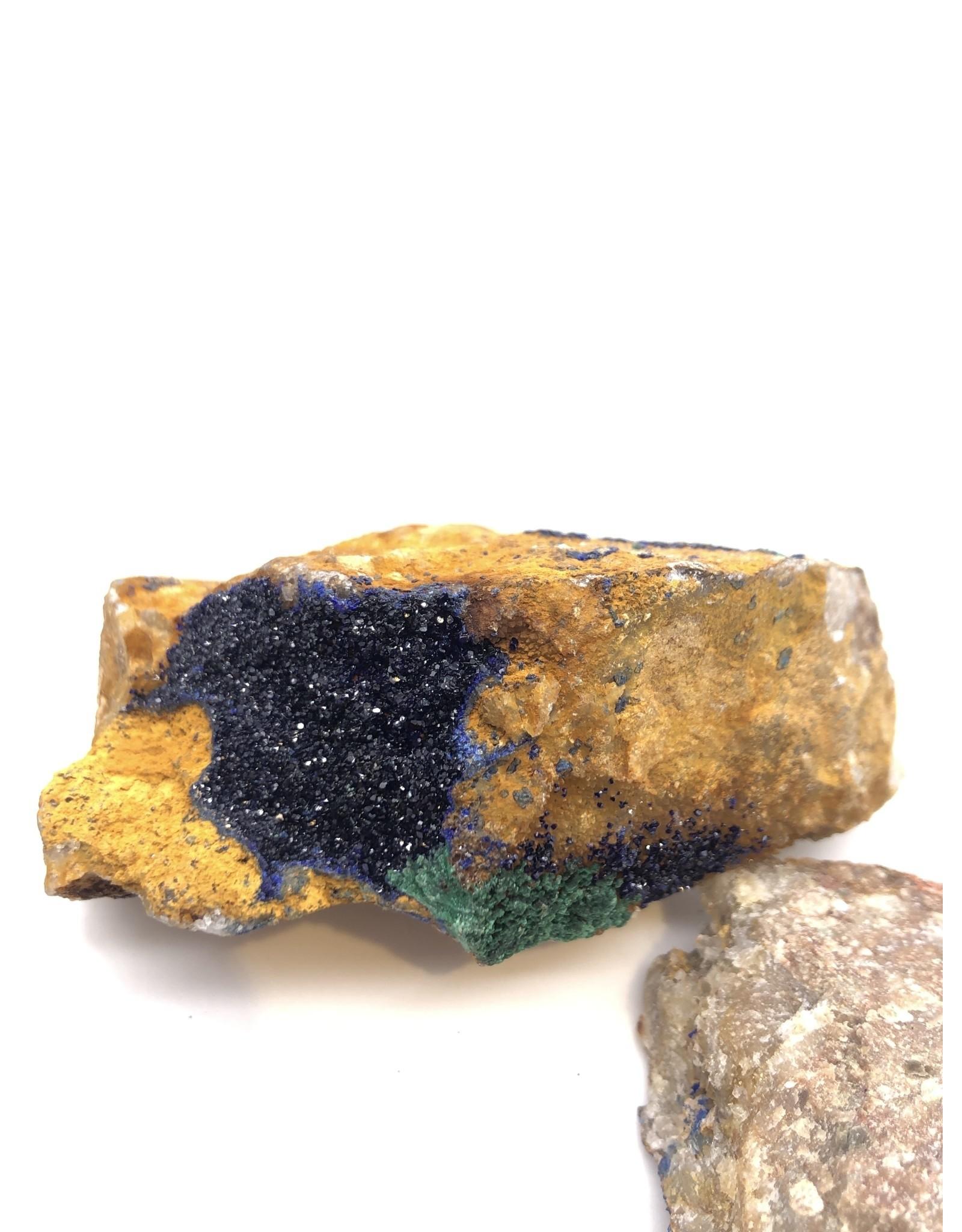 Azurite with Malachite (Morocco)