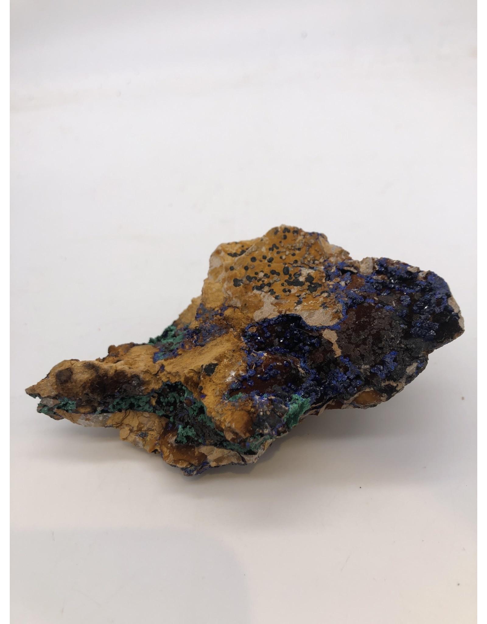 Azurite and Malachite (Morocco)