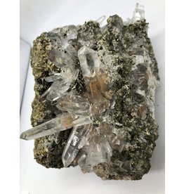 Epidote with Included Quartz Crystals (San Felipe Quarry, Peru)