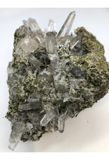 Epidote with Included Quartz Crystals (San Felipe Quarry, Peru)