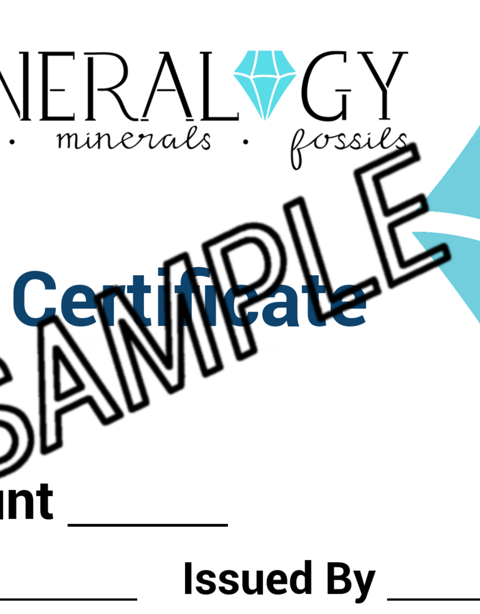 Mineralogy Store Gift Card