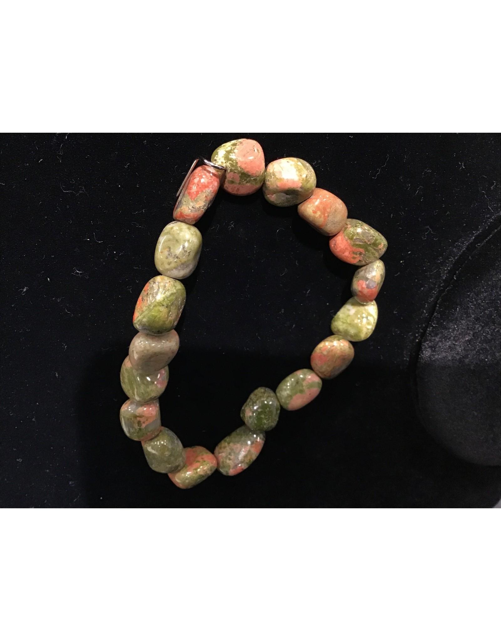 Unakite Tumbled Gemstone Bracelet