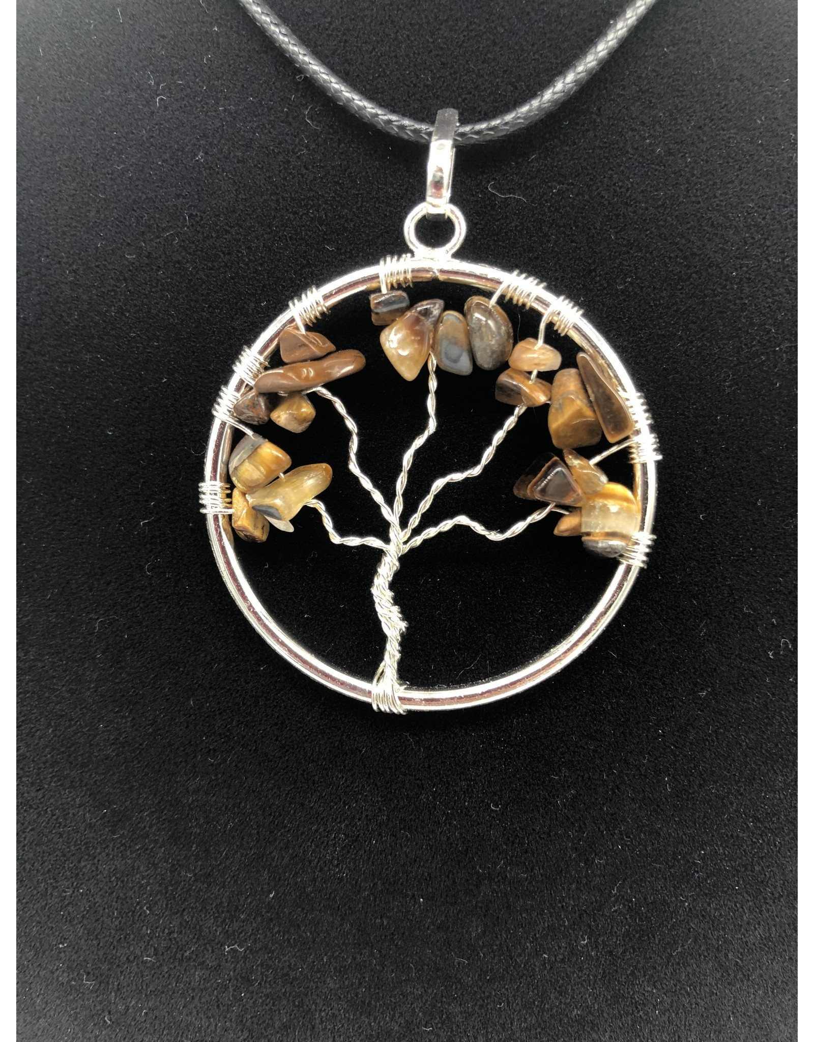 Tiger Eye Tree of Life Pendant