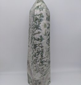 Green Dendritic Agate Tower 12""