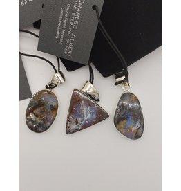 Charles Albert Charles Albert Sterling Silver Boulder Opal Pendant