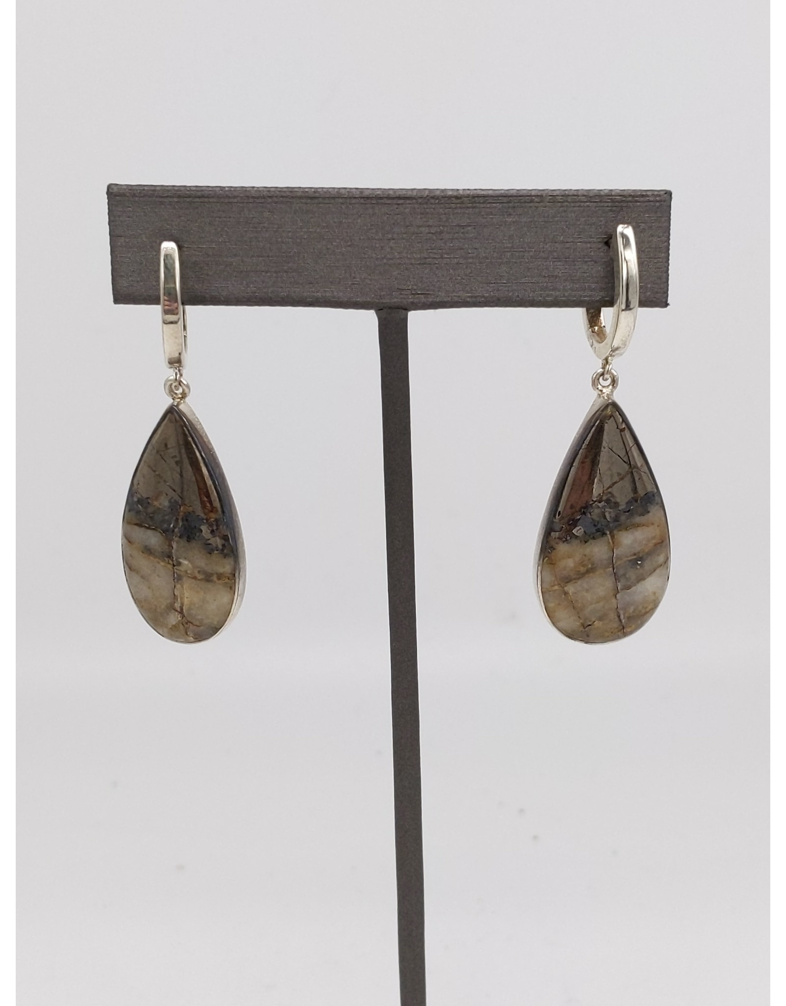 Ice Pyrite Earrings