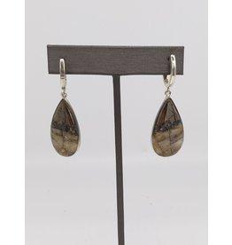 Ice Pyrite Earrings