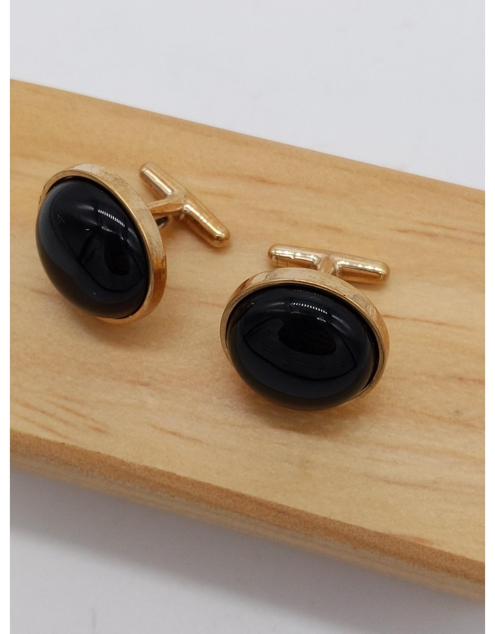 Black Onyx Bronze Cufflinks