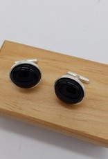 Black Onyx Sterling Silver Cufflinks