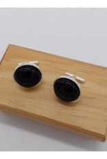 Black Onyx Sterling Silver Cufflinks