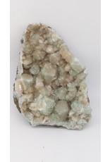 Green Apophyllite with Stilbite (India)