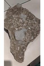 Apophyllite (Large Crystals) and Stilbite on Druzy (India)