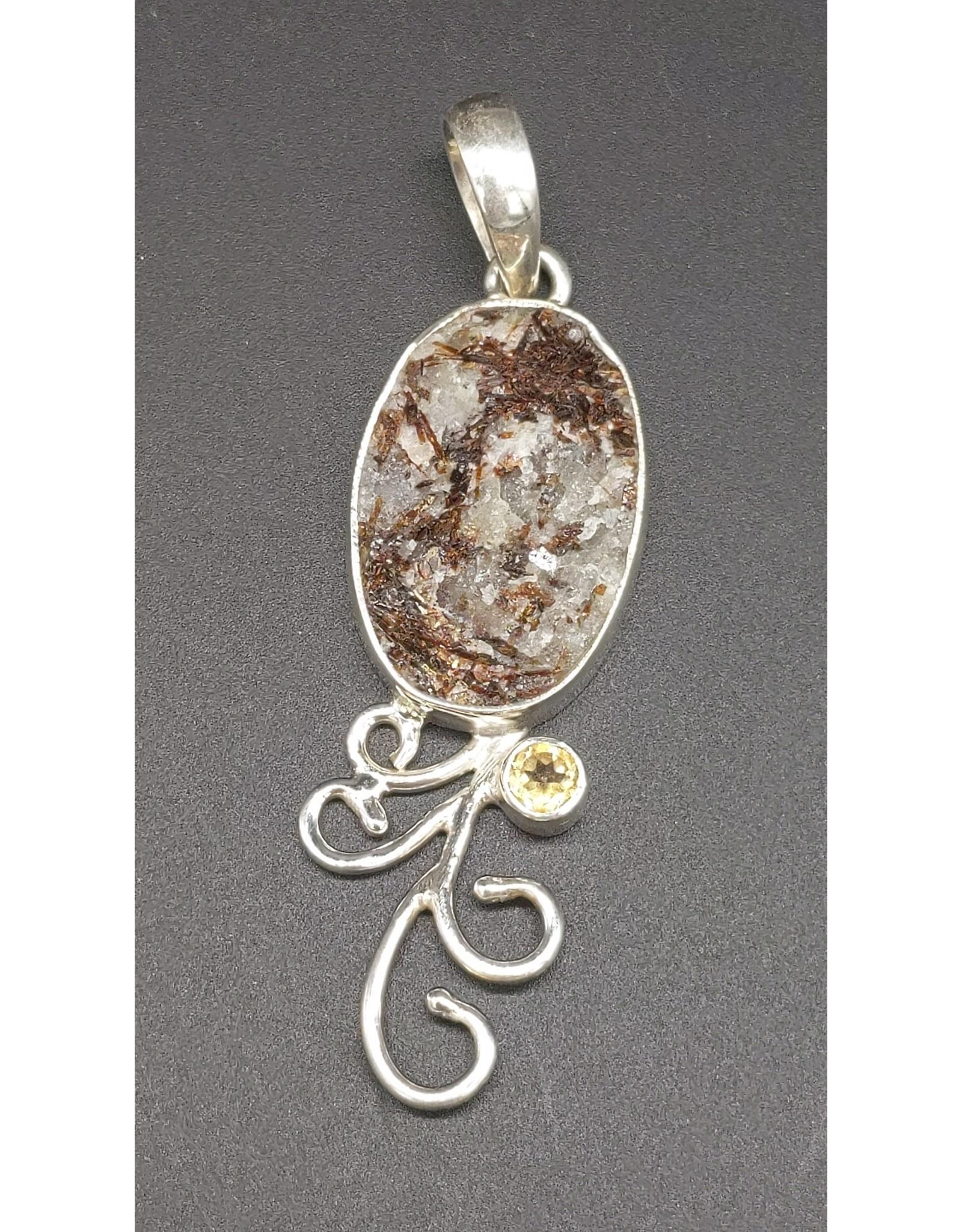Apophyllite Sterling Silver Pendant