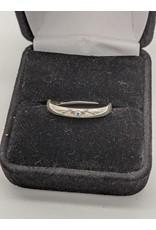 Aquamarine Gypsie Set Ring in Sterling Silver