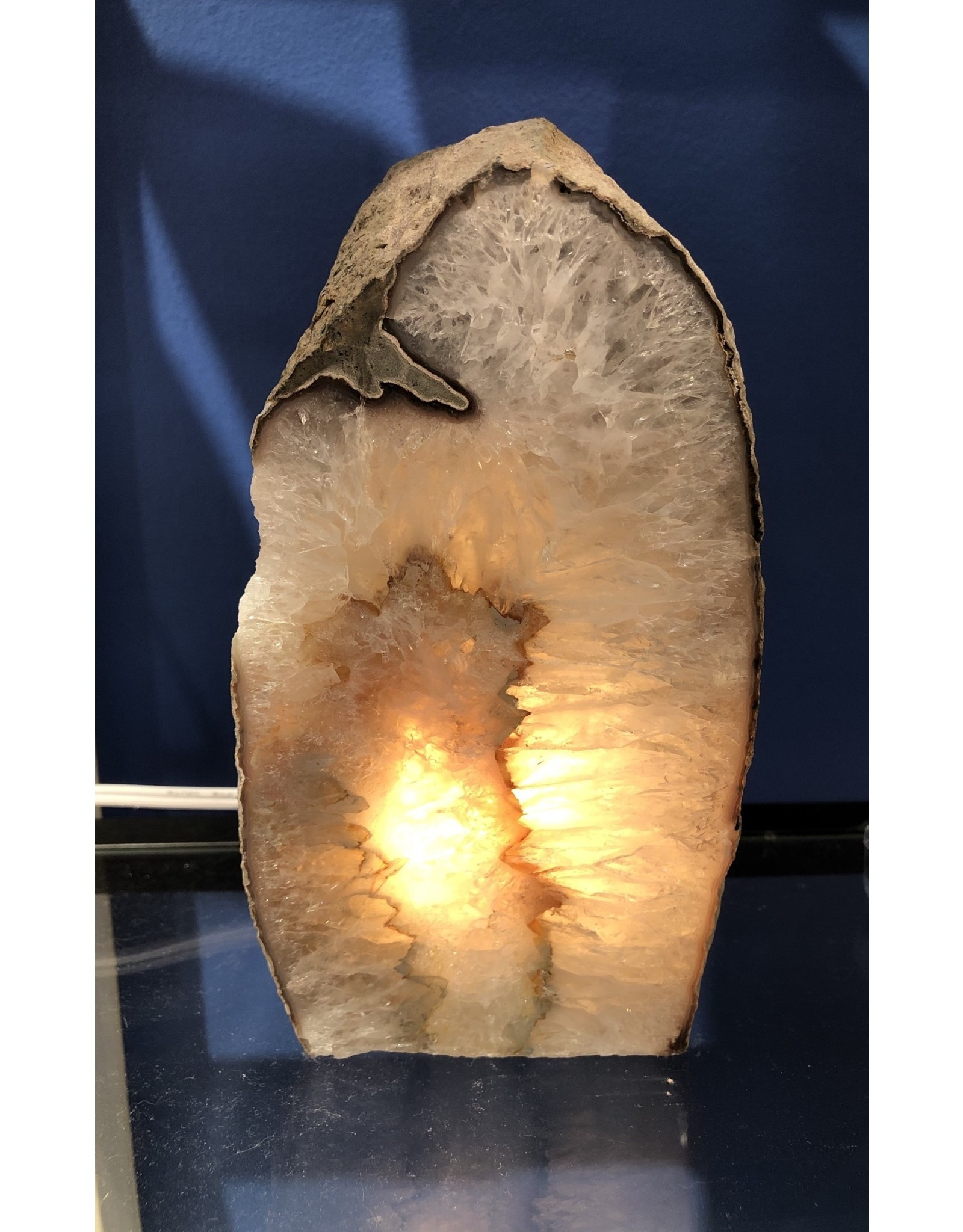 Natural Agate Geode Lamp - Large (Brazil)
