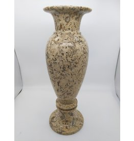 """Fossil Coral Marble Vase 12"""""""