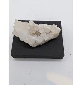 Quartz Crystal Cluster with Calcite