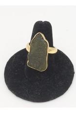 Moldavite Ring - Adjustable Oro Alchemia