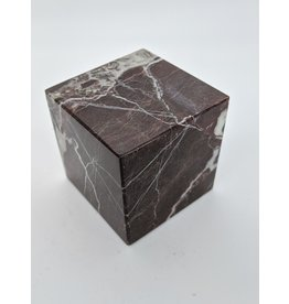 Red Marble Cube 68mm
