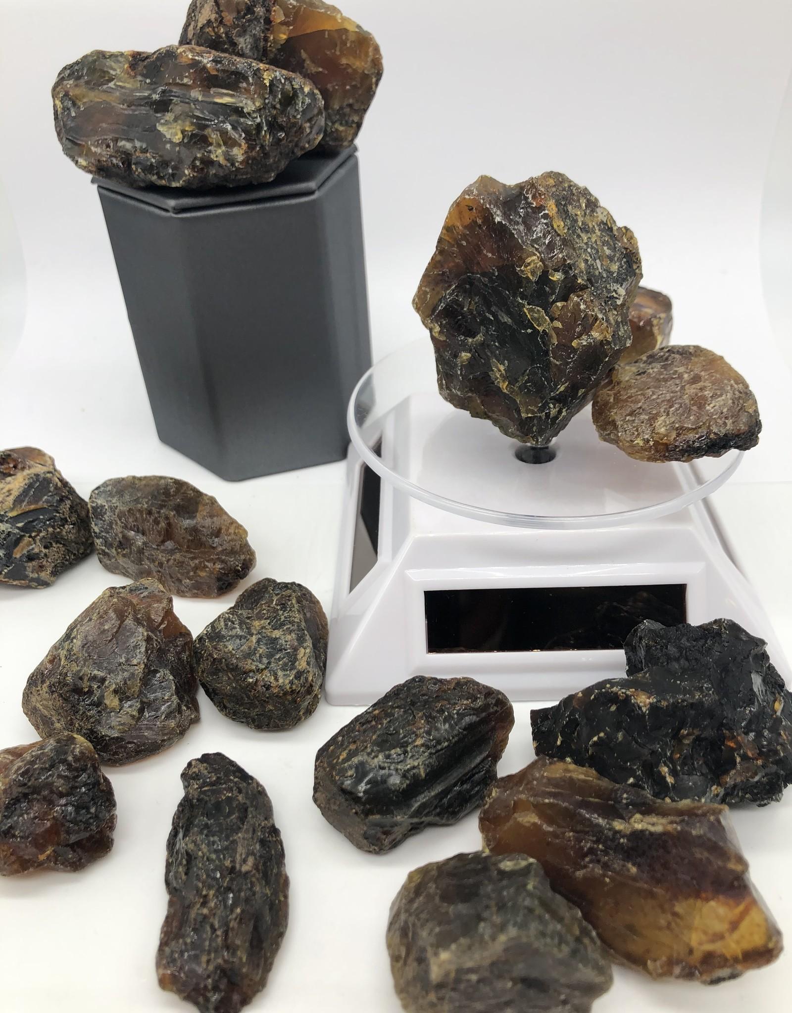 Raw Black Amber