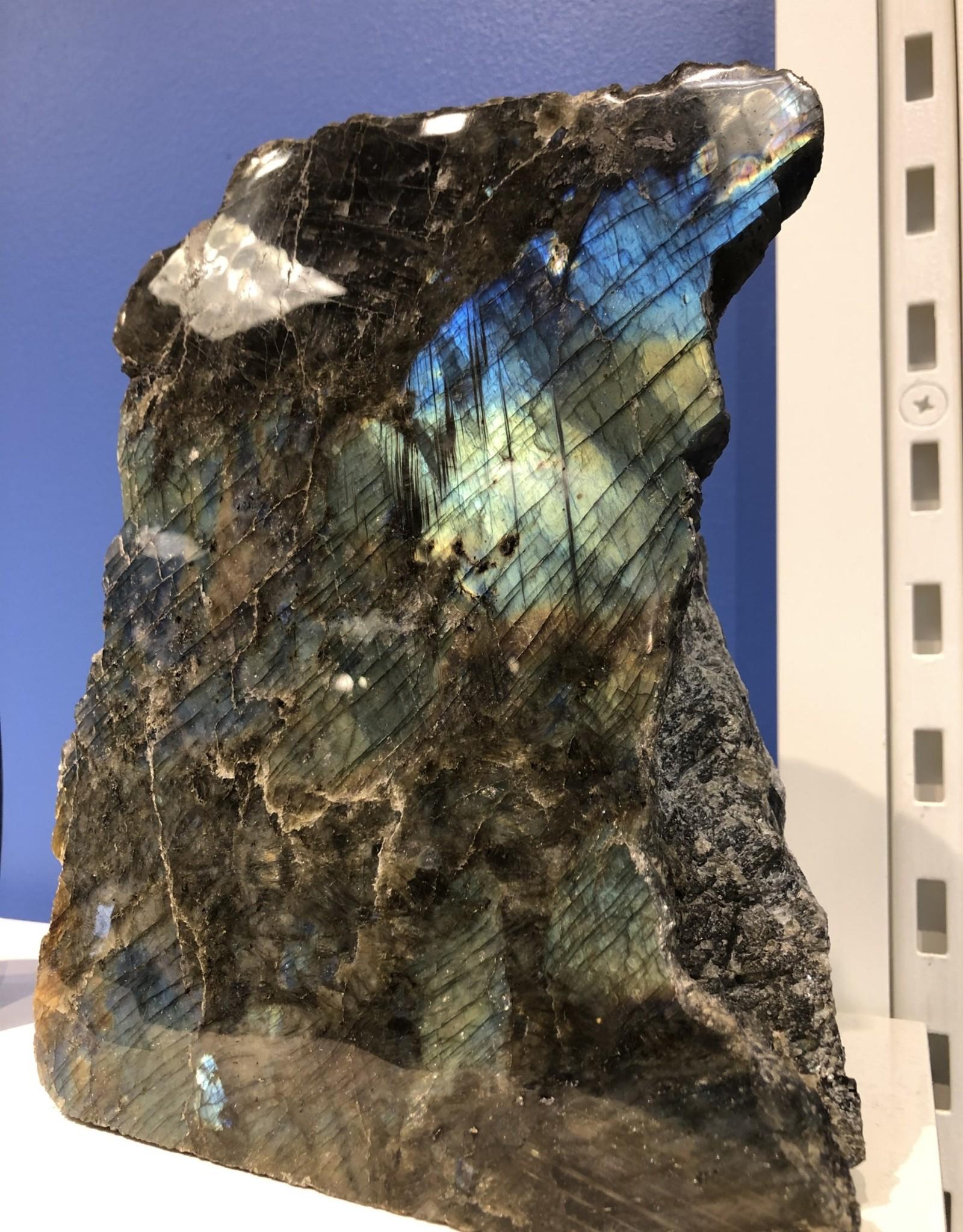 Labradorite Free Form Half Polished (Madagascar) XLARGE
