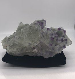 Cubic/Octohedral Fluorite with Purple Corners - Xianghualing Mine,Chengzhou, Hunan, China