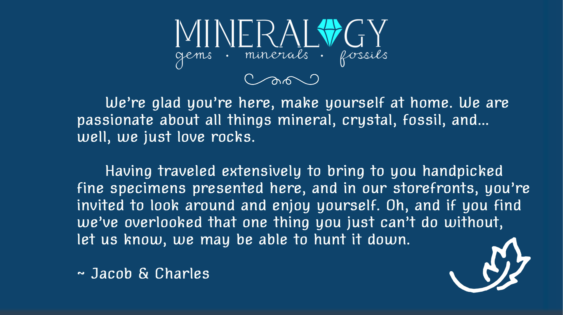 Welcome To Mineralogy!