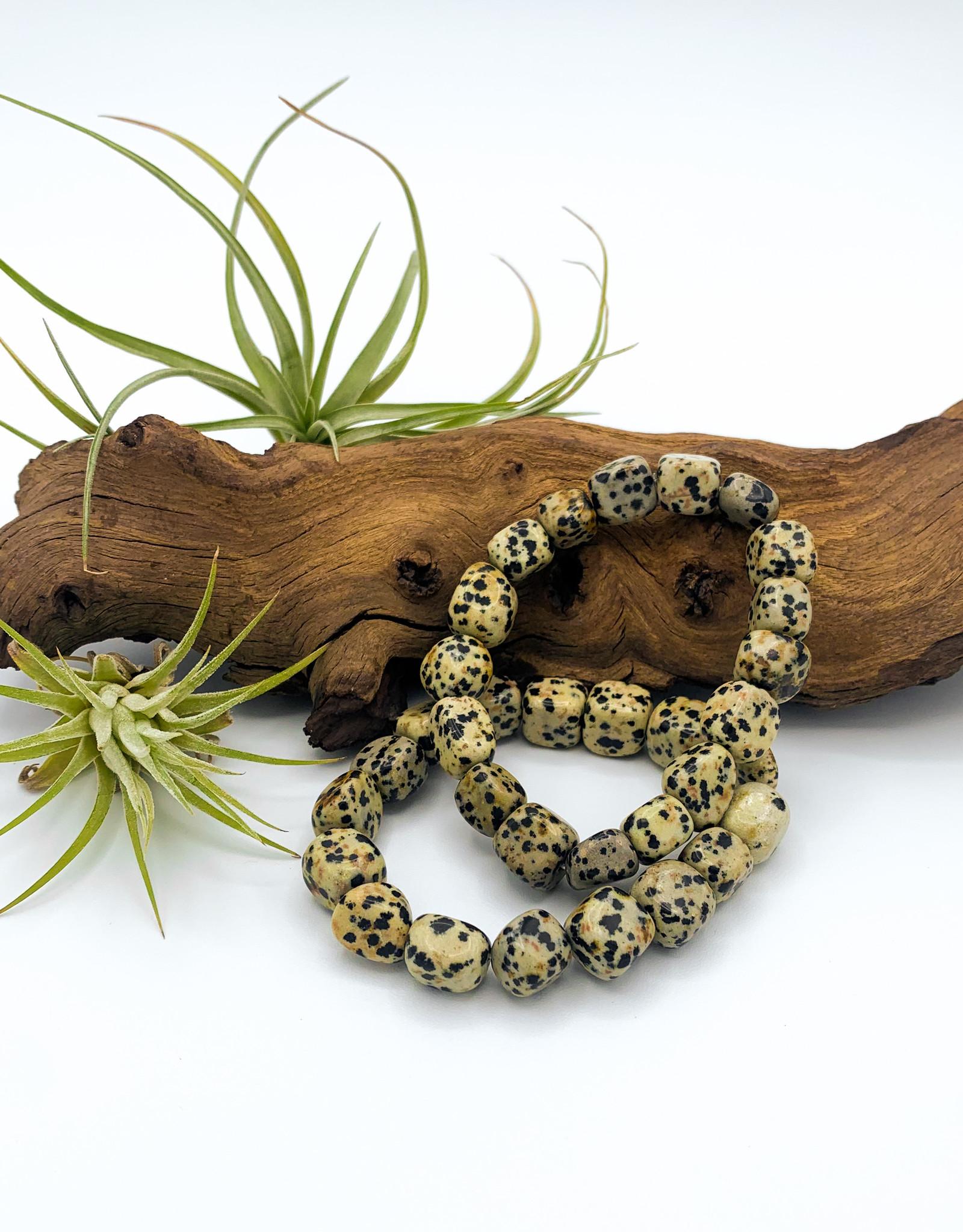 Dalmatian Jasper Tumbled Gemstone Bracelet