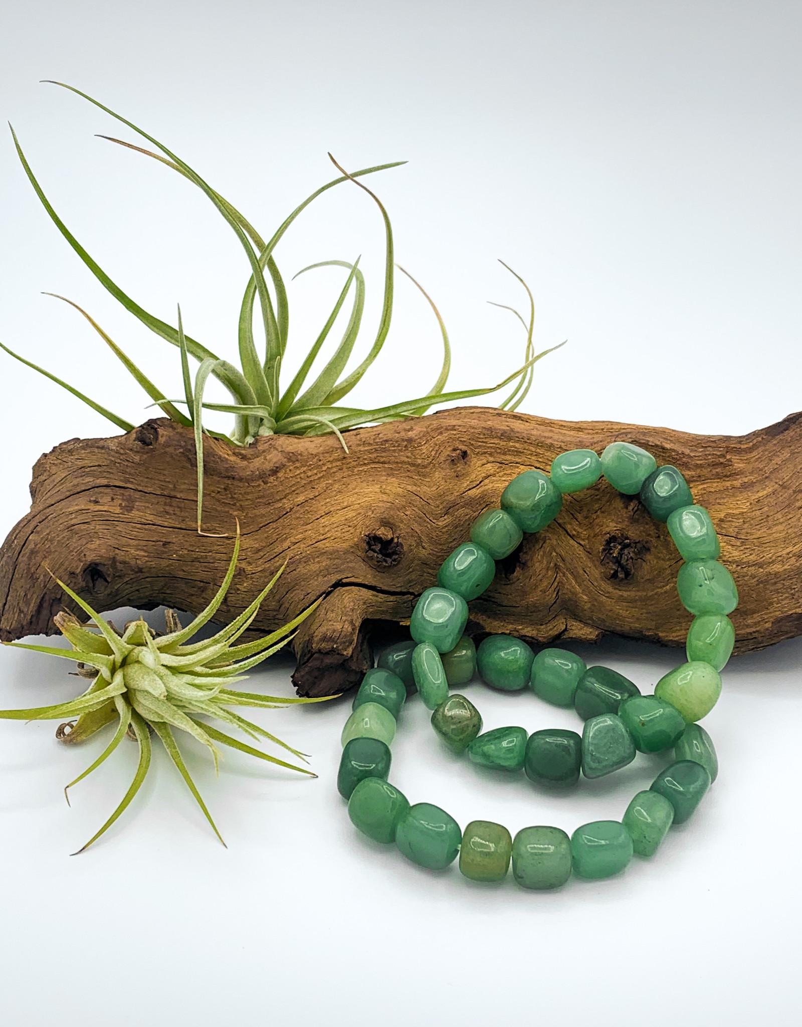 Green Aventurine Tumbled Gemstone Bracelet