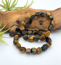 Tiger Eye Tumbled Gemstone Bracelet
