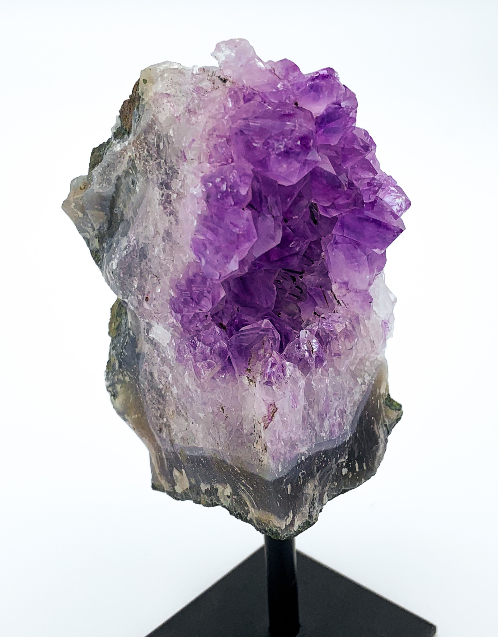 Amethyst Plate on Metal Stand