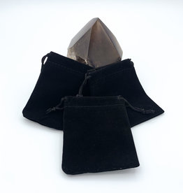 "Black 4x3"" Drawstring Pouch"