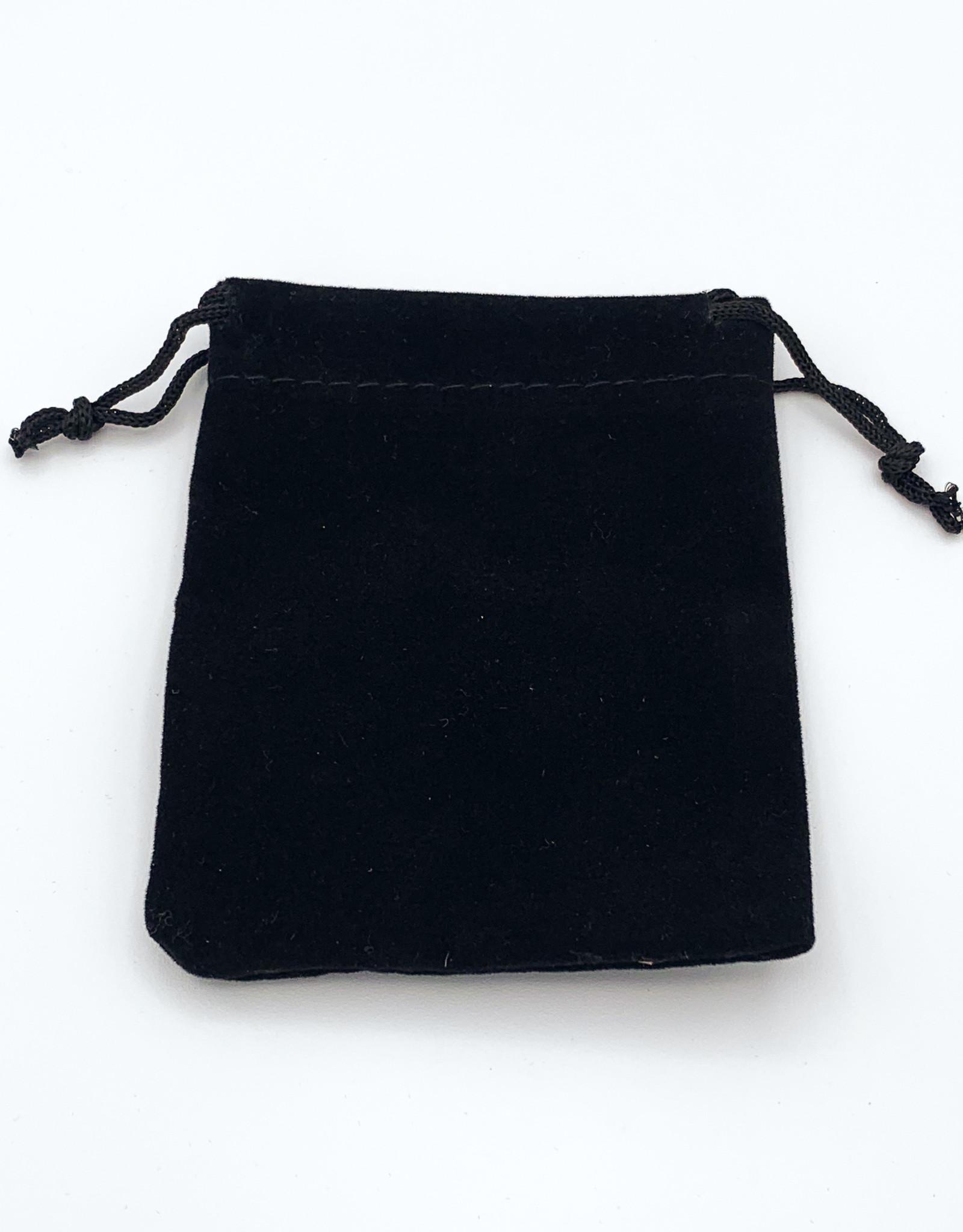 "Black 4x3"" Drawstring Pouch"