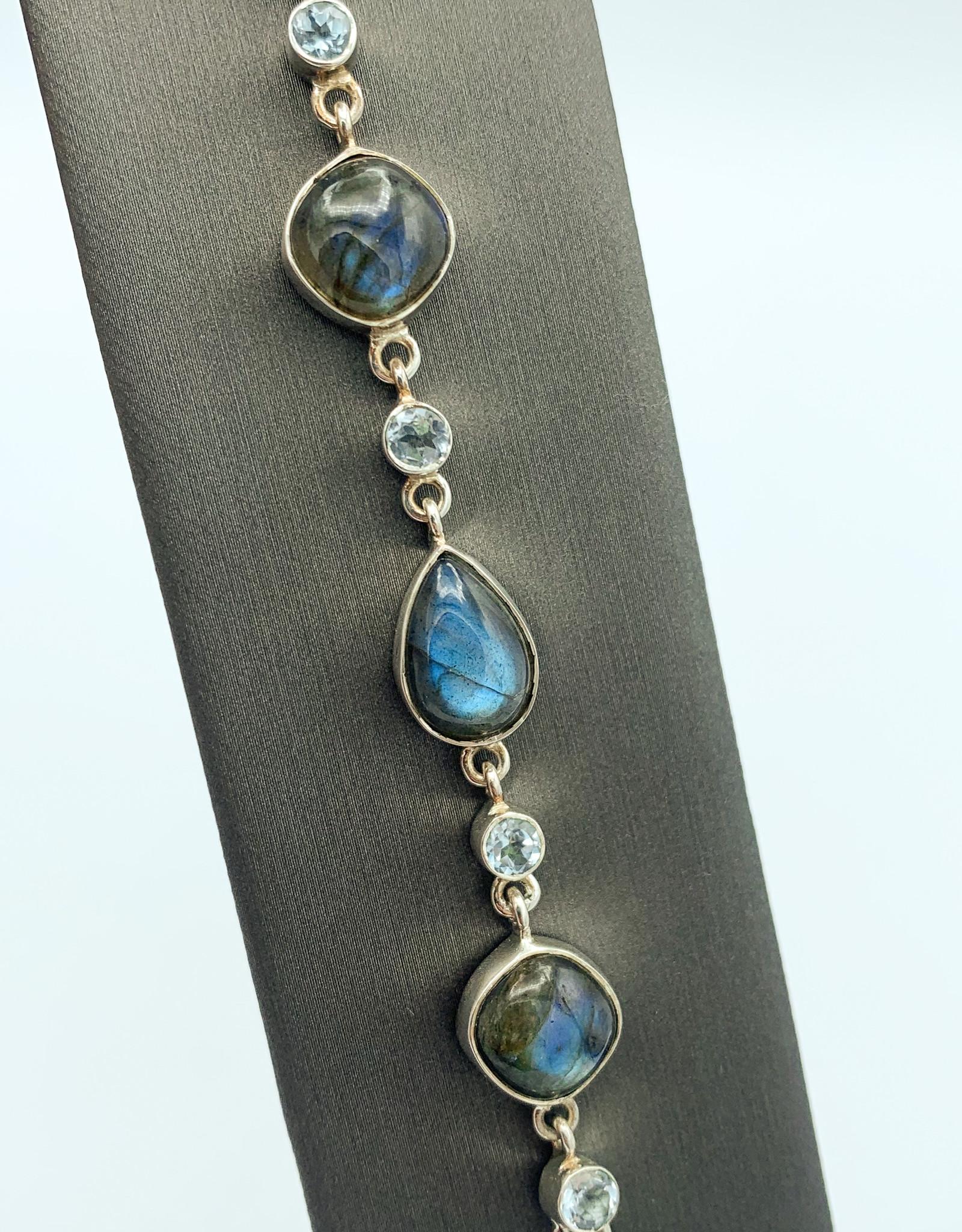 Labradorite & Blue Topaz Bracelet