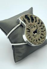Pyritized Ammonite Cuff