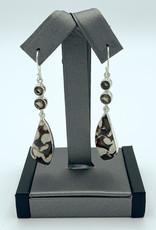 Smoky Quartz & Peanut Wood Earrings