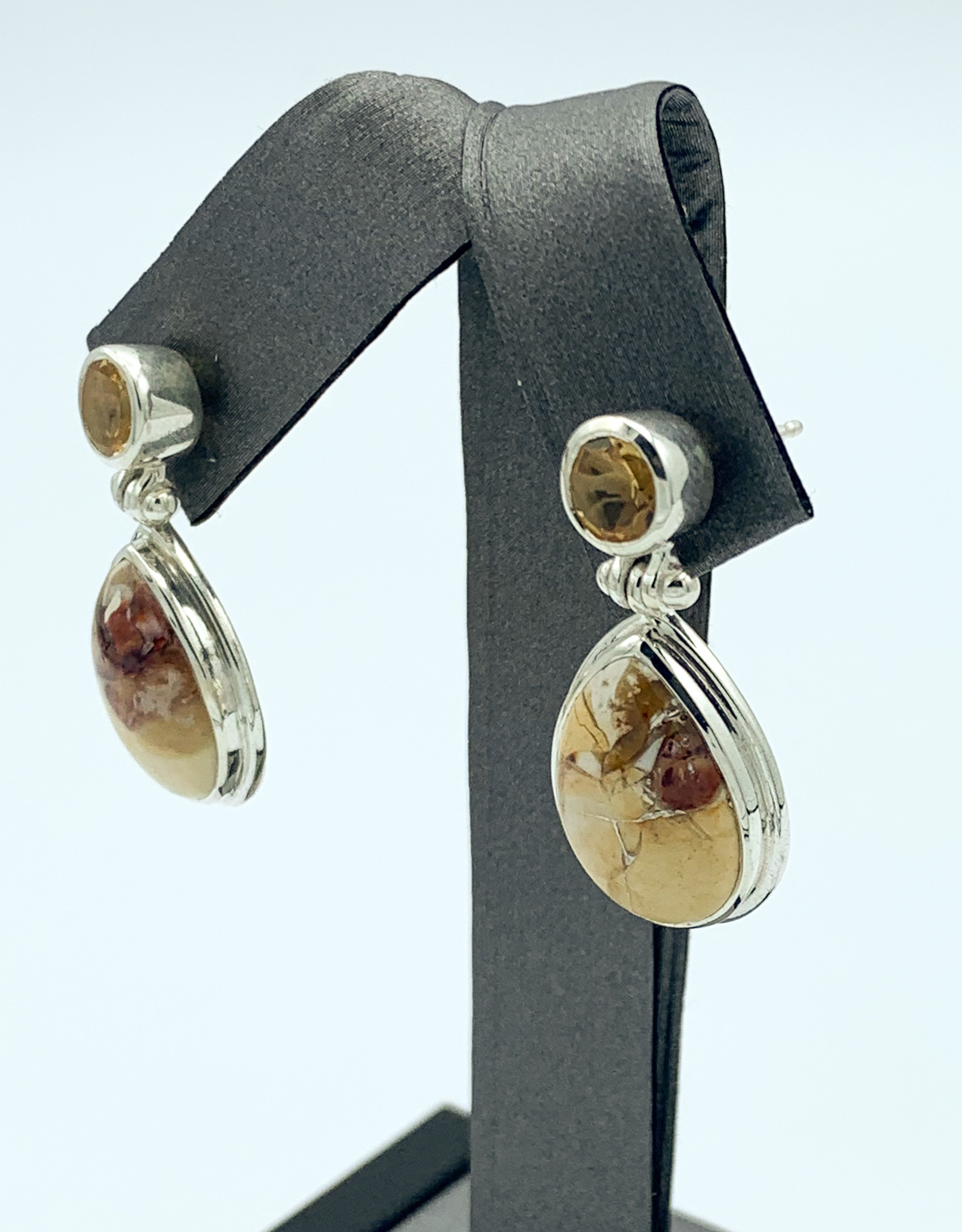 Mookaite & Citrine Earrings