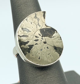 Pyritized Ammonite Ring (Adjsutable)