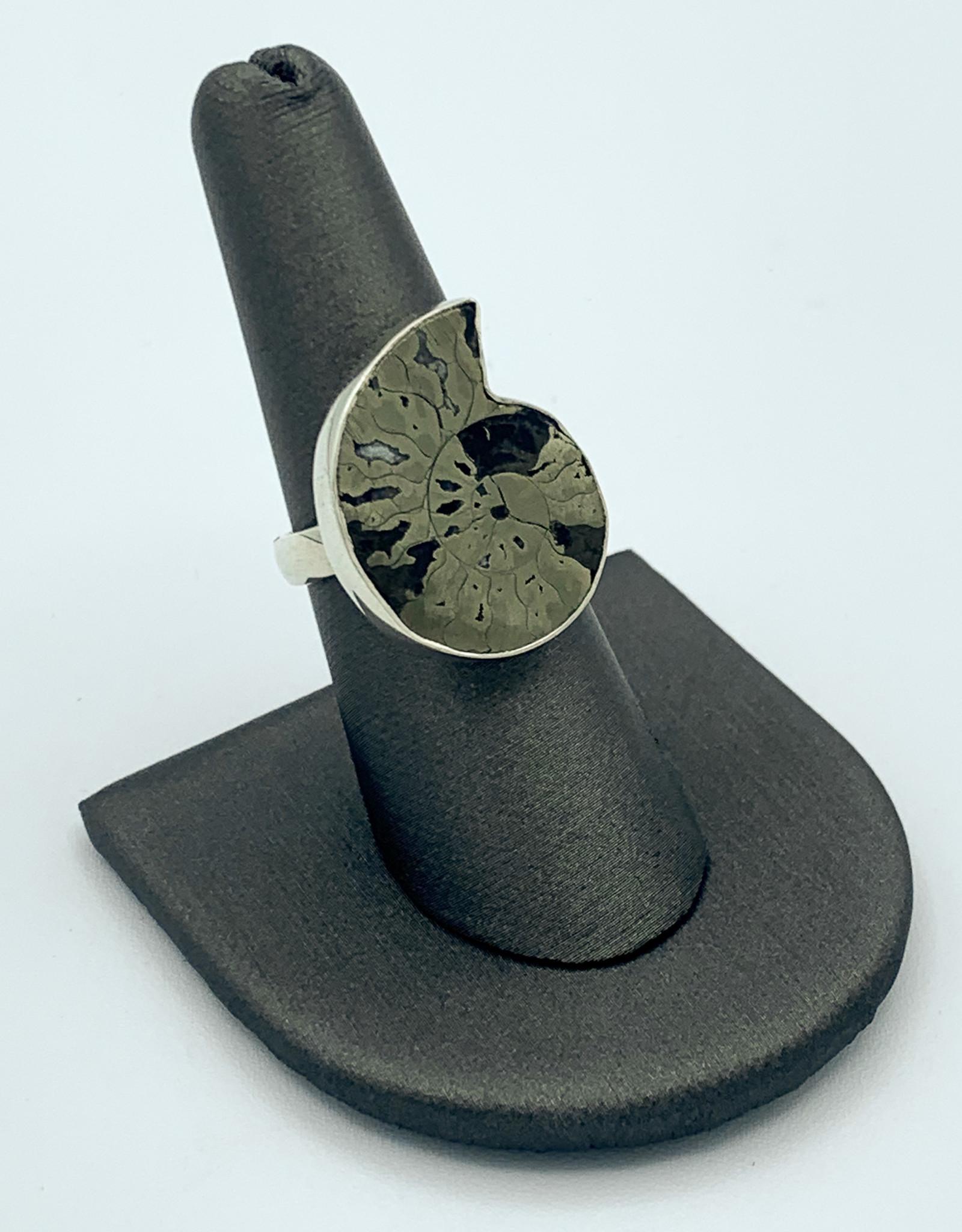 Pyritized Ammonite Ring (Adjsutable)