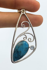 Turquoise & Blue Topaz Pendant