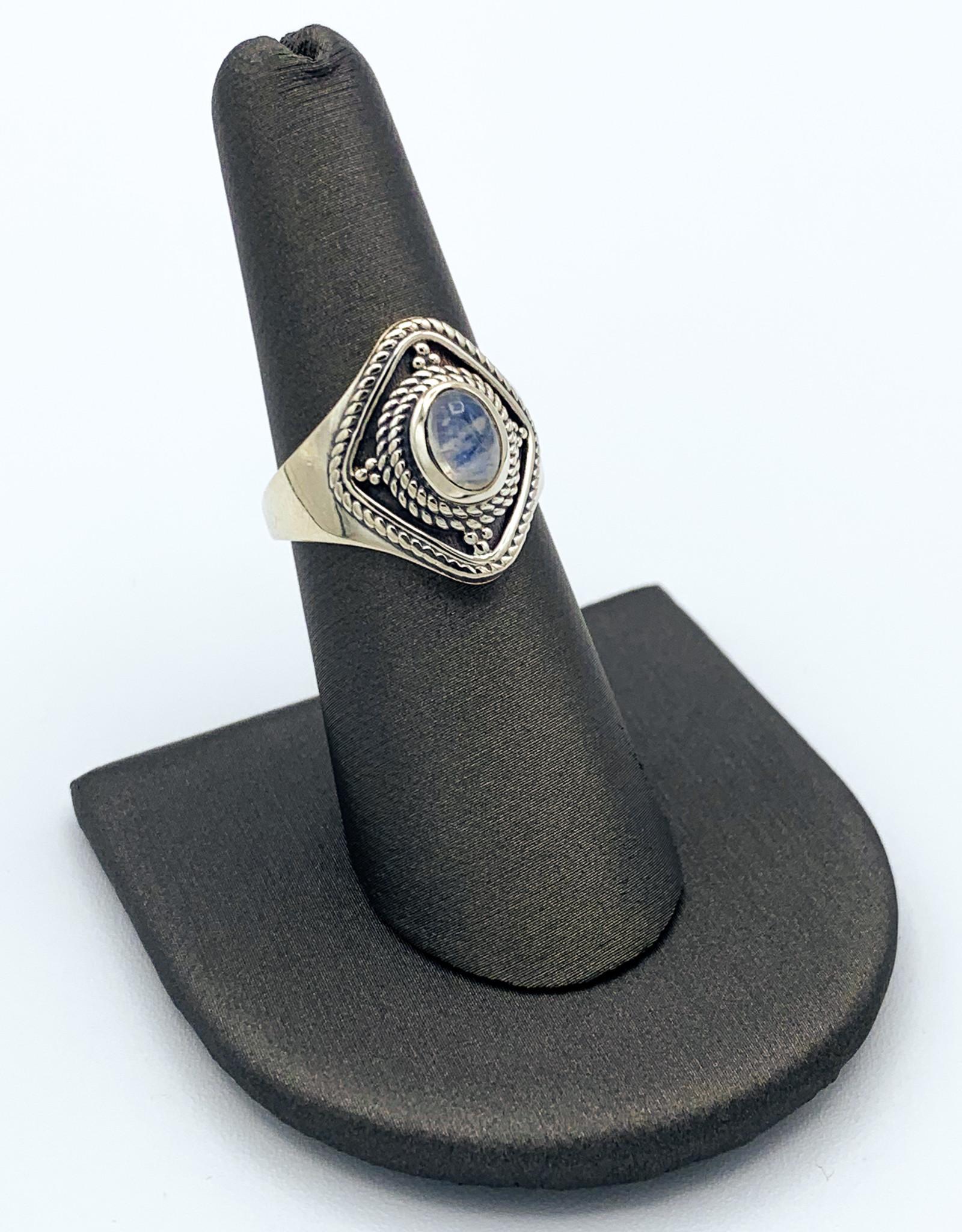 Rainbow Moonstone Ring - Size 7