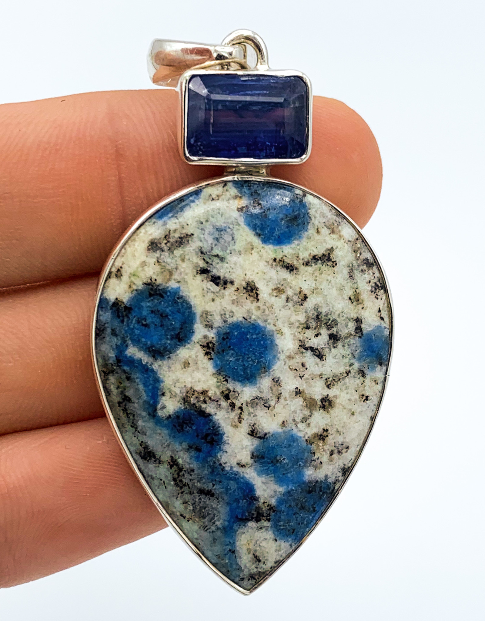 K2 Jasper & Blue Kyanite Pendant