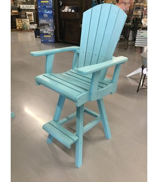 C.R. PLASTICS C22-11 PUB CHAIR SWIVEL AQUA