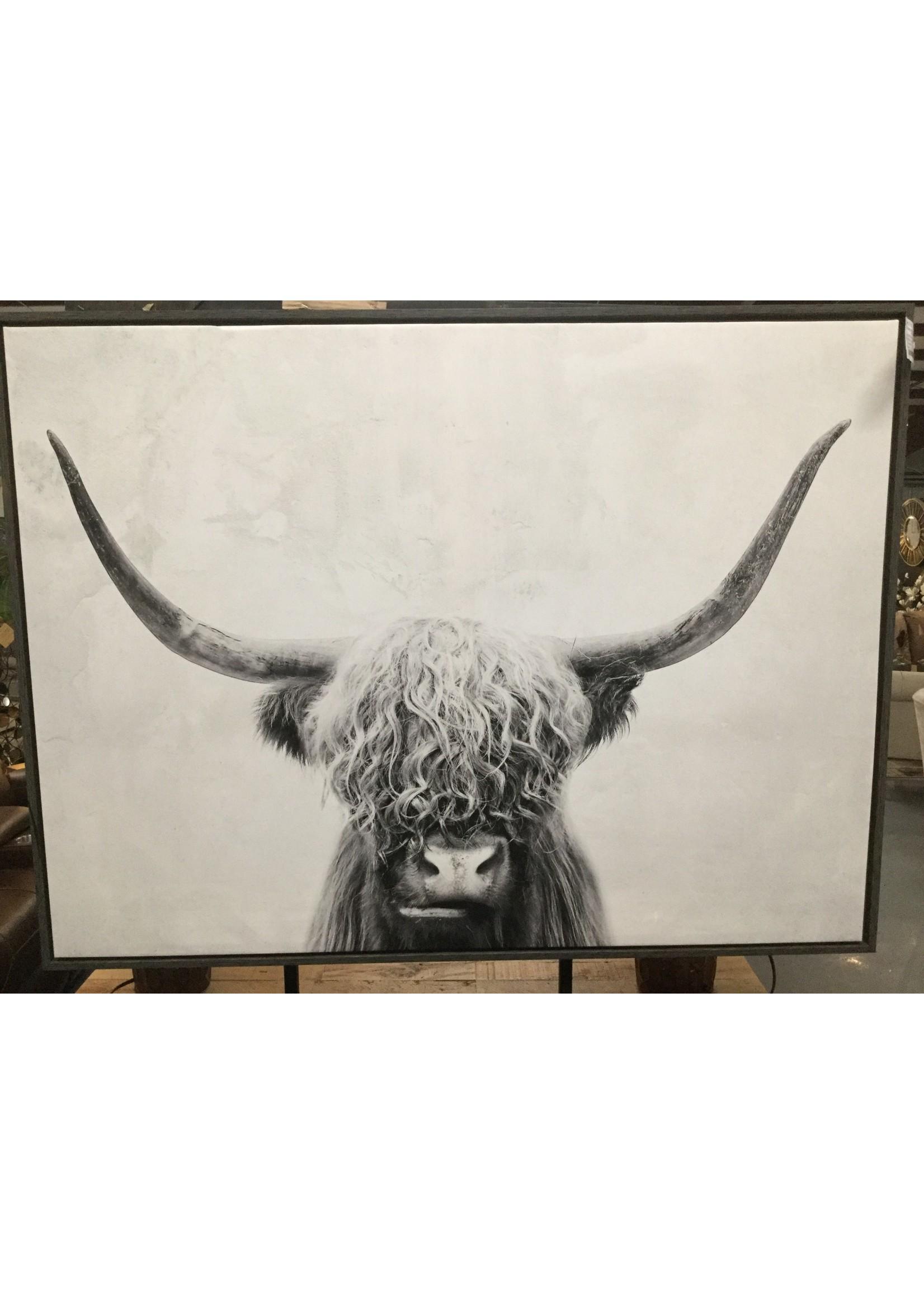 ASHLEY A8000258 WALL ART PANCHO BLACK/WHITE