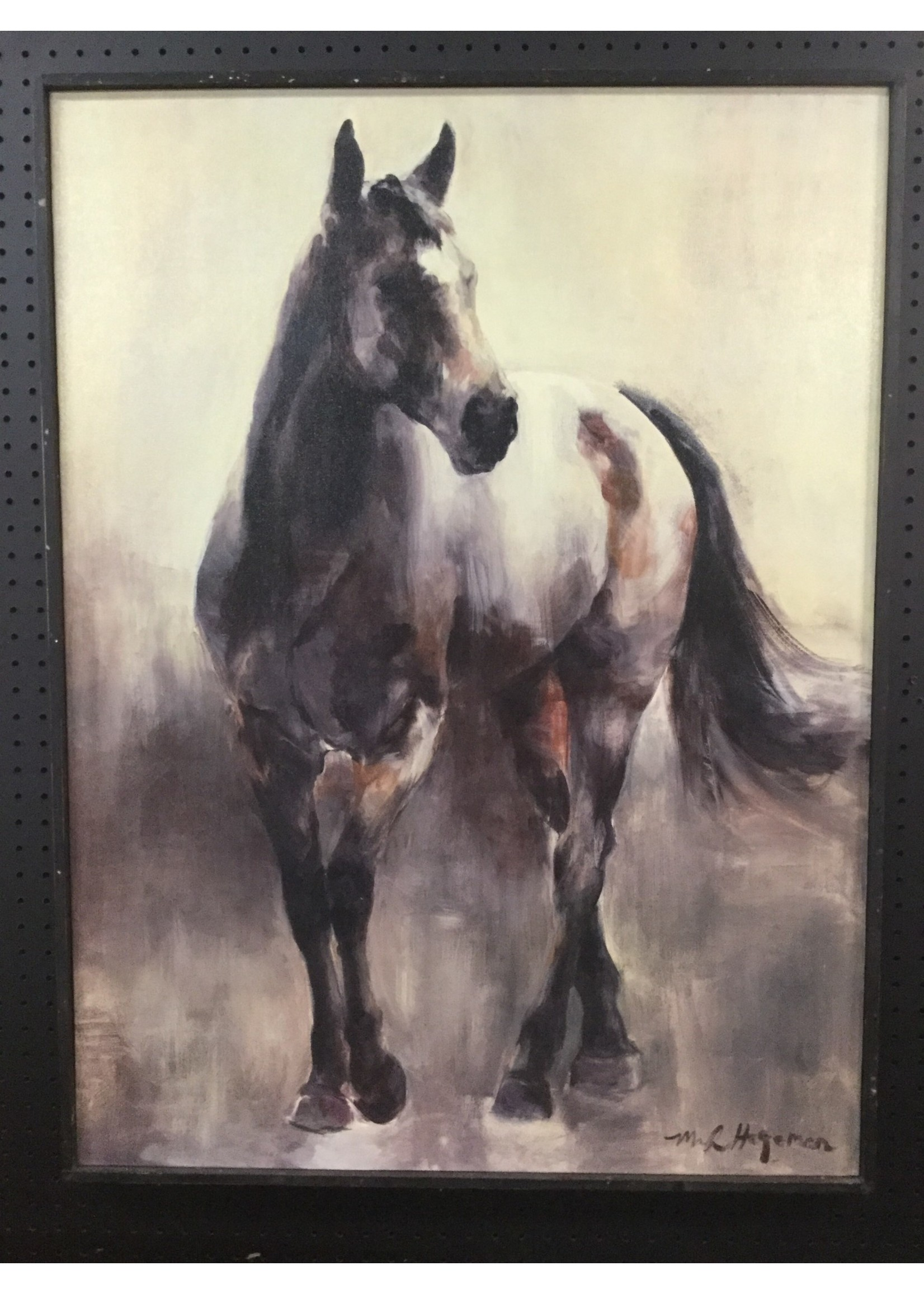 CREATIVE CO-OP DA7696 WALL  ART CANVAS HORSE