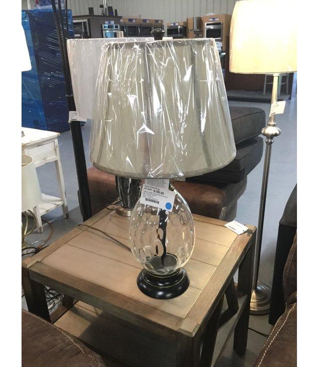 ASHLEY OLIVIA TABLE LAMP  METAL/GLASS