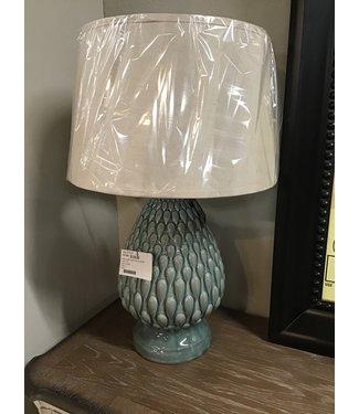 ASHLEY TABLE LAMP SAIDEE TEAL CERAMIC